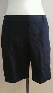 Old navy womens bermuda shorts size 6 waist 32 black P-005