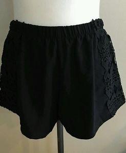Debbie dabble angel biba australia embroidery womens beach shorts sz 26 black