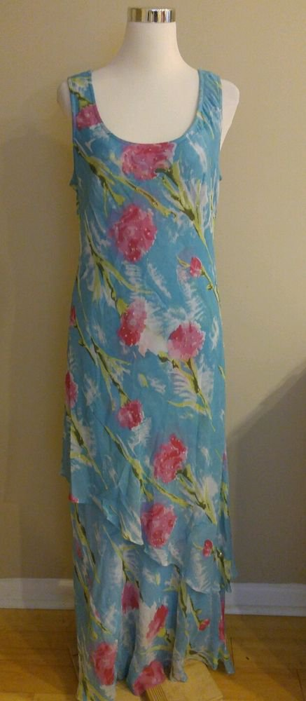 DBUSA womens shift sleevless dress size XL floral