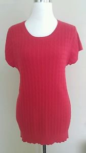 Gap womens knit blouse top size XXL red