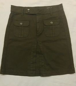 Gap 1969 womens skirt size 28/4 waist 30 green