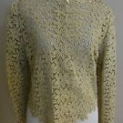 Vintage tailored womens embellished blazer top size XL beige 1-016