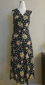 Jessica scott vest skirt suit set size M elastic waist 30 to 34 floral 1-023