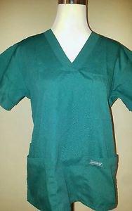 nurse scrup womens circles nurse dental vet tech CNA size XS green