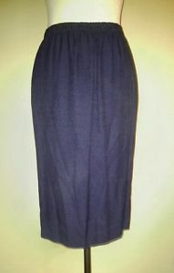 Made by a tailor womens skirt size M elastic waist 30 to 34 navy blue