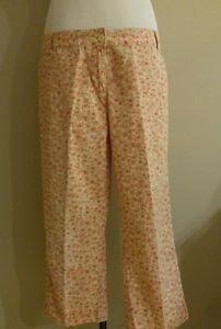 Calvin klein womens floral pant size 8 waist 34 peach