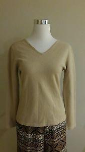 Infolite womens top knit sweater size L lite brown