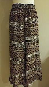"""Sweet claire womens bell high waisted pant size S elastic waist 26"""" to 30"""""""