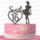 Sweet 16 Birthday Cake Topper, 16th Birthday Cake Topper, Sixteen Cake Topper