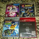 Lot Of 4 PS3 Games Brand New - Skyrim Greatest Hits LEGO Batman 2 DC + More Read