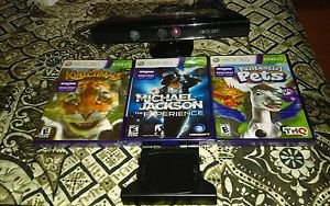 Xbox 360 Kinect Sensor & 3 *New Sealed* Kinect Games Included Kinectimals+ More