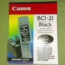 Genuine Canon BCI-21 Black Ink Cartridge **Brand New Sealed**