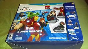 Disney Infinity 2.0 Edition Marvel Starter Pack Super Bundle (Wii U, 2012) *New*