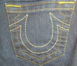 "True Religion Womens Jeans, Waist 26"", Inseam 31"", Dark, *EUC* Claire, Boot Cut"