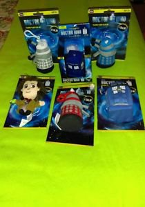 Lot Of 6 Doctor Who Talking Plush Clip Ons & Tardis Squezz Toys **Brand New**