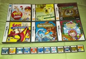 18 Nintendo DS Game Cartridges Some Complete W/ Manuals & Case *EUC* READ Pokem-