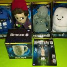 3 Doctor Who Talking Soft Toys+1 Soft Toy+Weeping Angels Mug+5th Doctor Figurine