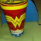 Wonder Woman Collectable Glass Cup With Cape Attached Rare Brand New Tag Attach-