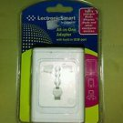LectronicSmart All-in-One Adapter Built-in USB Port By Conair LS1ADR (White) NIB