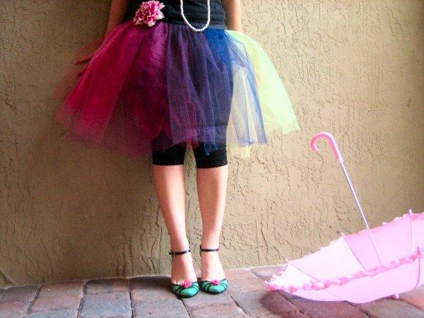 80's Costume Cosplay Ballerina Ballet Petticoat Skirt
