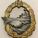 WWII GERMAN KRIEGSMARINE DESTROYER WAR BADGE