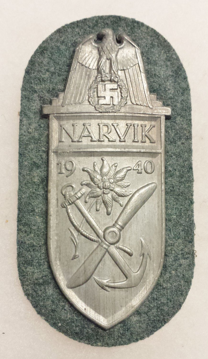 WWII GERMAN NARVIK CAMPAIGN BATTLE SHIELD
