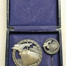 WWII GERMAN KRIEGSMARINE NAVAL BLOCKADE RUNNER BADGE - CASED