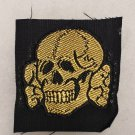 WWII GERMAN SS TOTENKOPF TROPICAL CAP SKULL