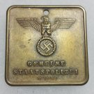 WWII GERMAN NAZI GESTAPO POLICE WARRANT DISC