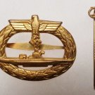WWII WW2 GERMAN NAZI KRIEGSMARINE U-BOAT WAR BADGE W/ STICKPIN