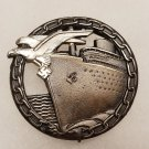 WWII WW2 GERMAN NAZI KRIEGSMARINE BLOCKADE RUNNER BADGE