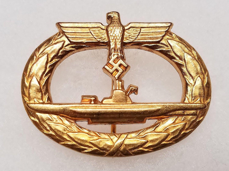 WWII GERMAN NAZI KRIEGSMARINE U-BOAT BADGE