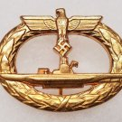 WWII GERMAN NAZI KRIEGSMARINE U-BOAT BADGE