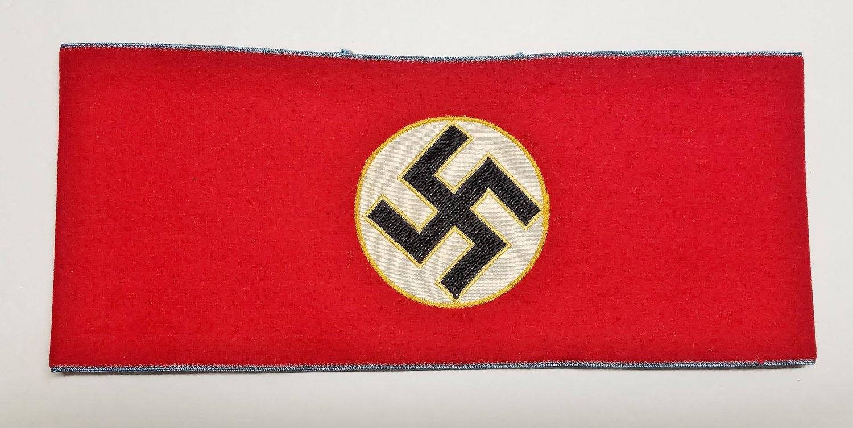 WWII GERMAN NAZI NSDAP ORTS LEVEL MITARBEITER ARMBAND