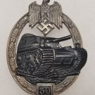 WWII GERMAN NAZI PANZER ASSAULT BADGE - SPECIAL GRADE 50