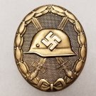 WWII GERMAN NAZI WOUND BADGE - GOLD GRADE