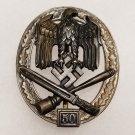 WWII GERMAN NAZI GENERAL ASSAULT BADGE - SPECIAL GRADE 50