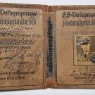 WWII GERMAN NAZI WAFFEN SS PARATROOPER PASSPORT DOCUMENT BOOK