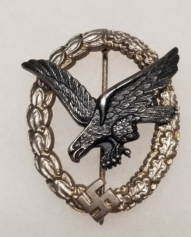 WWII GERMAN NAZI LUFTWAFFE AIR GUNNER BADGE