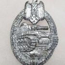 WWII GERMAN NAZI PANZER ASSAULT BADGE - SILVER GRADE