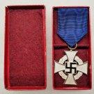 WWII GERMAN NAZI 25 YR FAITHFUL SERVICE MEDAL
