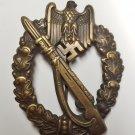 WWII GERMAN NAZI INFANTRY ASSAULT BADGE - BRONZE GRADE