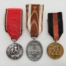 WWII GERMAN NAZI LOT OF THREE THIRD REICH PERIOD MEDALS