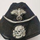 WWII GERMAN WAFFEN SS M40 PANZER OFFICER'S OVERSEAS CAP