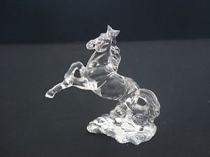 WONDERS OF THE WILD Stallion/Mustang Horse #935 Lead Crystal Sculpture