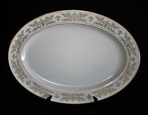 "# Lenox China NOBLESSE - Large Oval Serving Platter 16"""