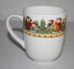 Gibson Debi Hron Snowman Frolic Coffee Cup Mug MULTIPLES AVAILABLE