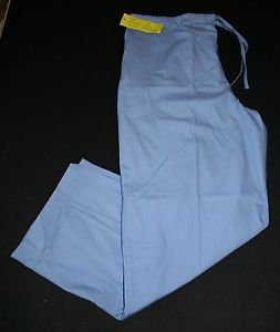 NEW Natural Uniforms Scrub Pants L Petite Blue Womens Nursing Vet #SW-2150