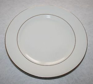 Gibson Anniversary Golden Black Stamp Salad Plate MULTIPLES AVAILABLE