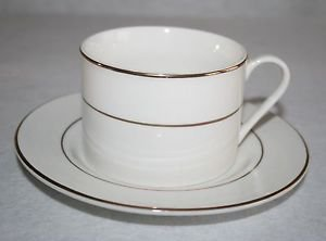 Gibson Anniversary Golden Black Stamp Cup & Saucer MULTIPLES AVAILABLE